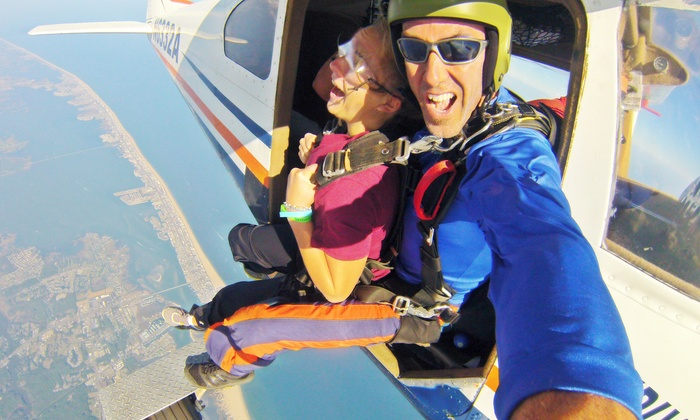 Skydive OC - Ocean City, MD: $169 for an Oceanfront Tandem Skydiving Experience with $30 Photo Media Credit from Skydive OC ($339 Value)