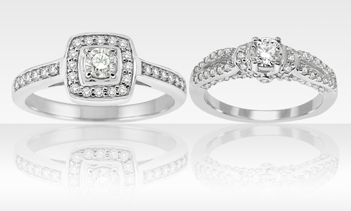 1/2 CTW Diamond Bridal Rings in 14K White Gold: $499.99 for a 1/2 CTW Diamond Bridal Ring in 14K White Gold ($1,999.99 List Price). 2 Styles. Free Shipping and Returns.
