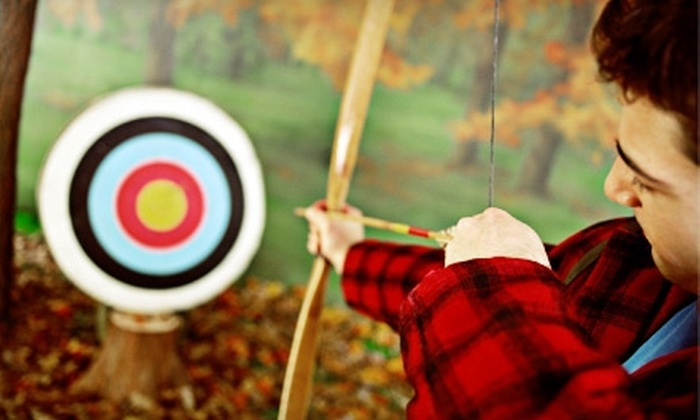 Barefoot Archery - Old Pineville Road: $25 for a One-Hour Practice Session with Bow-and-Arrow Rental for Two at Barefoot Archery ($50 Value)