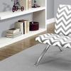 Chevron Fabric Modern Accent Chair
