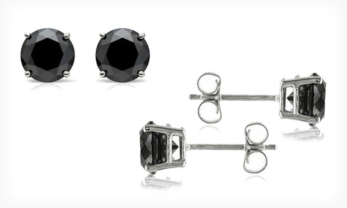 6d0037ea9 $209.99 for 2.5-Carat Black Diamond Stud Earrings