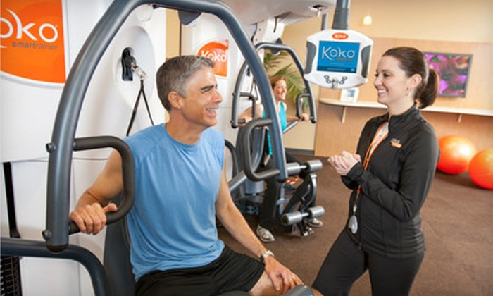 Koko FitClub - Multiple Locations: 8 or 15 Smartraining Sessions with Fitness Consultation and Use of Cardio Machines at Koko FitClub (Up to 83% Off)