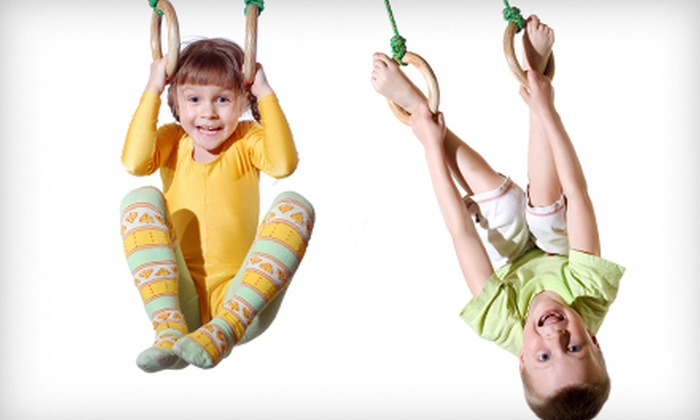 The Jungle Gym - Burien Lake View: Punch Card for 10 Open-Gym Sessions or Gymnastics Classes, or Party for Up to 18 Kids at The Jungle Gym (Up to 53% Off)
