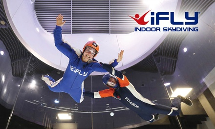 iFLY Indoor Skydiving Gold Coast: Pkg with 2 Flights Each $55, 2 $99, 3 $159 or 5 Ppl $250 Up to $419