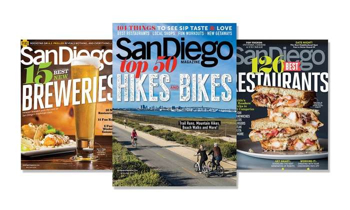 San Diego Magazine - Orange County: One-, Two-, or Three-Year Print Subscription to San Diego Magazine (Up to 50% Off)