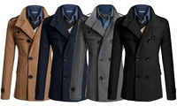 Men's Double-Breasted Coat for €35.99 With Free Delivery (62% Off)