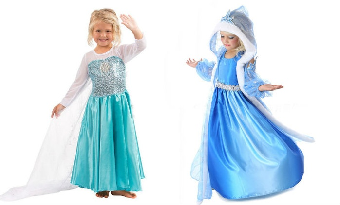 Girls' Ice Princess Dress in Choice of Design from AED 69 (Up to 78% Off)