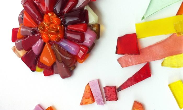 Glass-Fusing Class - Fort Greene: Create a Glass Flower with a Glass-Fusing Artist