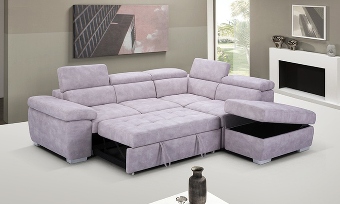 5 Seater Storage Lounge Chaise