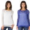 Sociology Women's Lurex Chevron Sweater  (Sizes M & L)