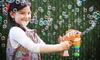 Light-Up LED Cartoon Fish Bubble Gun with Music: Light-Up LED Cartoon Fish Bubble Gun with Music