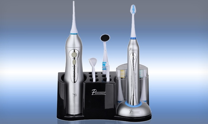 Pursonic 20-Piece Deluxe Home Dental Center: Pursonic 20-Piece Deluxe Home Dental Center. Free Shipping and Returns.