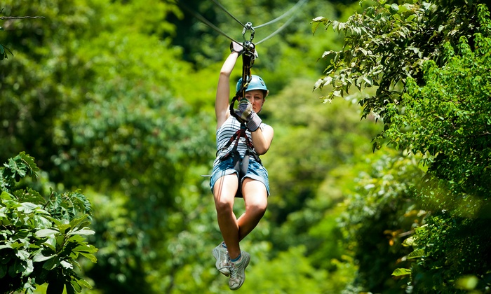 Anchors Above Zipline - French River: Zipline Tour for Two or Four at Anchor's Above Zipline Adventures (Up to 50% Off)