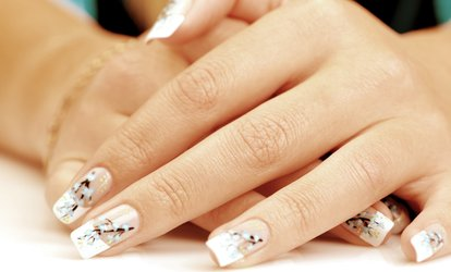 image for $27 for a Deluxe Manicure and Deluxe Pedicure at Salon Palomo & Day Spa ($70 Value)