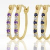 $12.99 for Gemstone and Diamond Accent Hoop Earrings