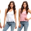 2-Pack of Women's Burnout Peplum Tops