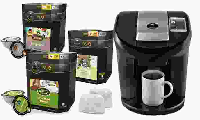 Keurig Vue V600 Brewing-System Bundle: Keurig Vue V600 Brewing-System Bundle with Brewer, Water-Filter Starter Kit, and 58 Assorted V-Cups. Free Returns.