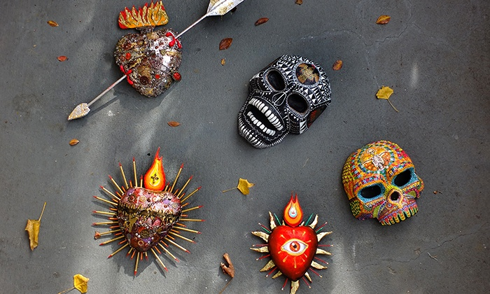 "Diego Marcial Rios: Sacred Hearts & Skulls in the Mexican Paper Mache Tradition  - The Finnish Brotherhood Hall ( Ski-Club Room): ""Sacred Hearts & Skulls"" Mexican-Mask-Making Workshops on Saturdays at 12 p.m."