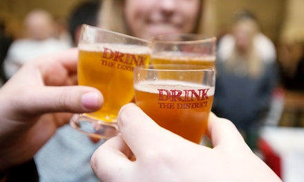 3 Hours of Unlimited Beer & Wine Tastings from Drink the District on Sat, May 3, at 1 or 6 p.m. (Up to 40% Off)