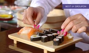 Ikesu: Japanisches 6-Gänge-Menü für 2 Personen mit Sushi, Miso-Suppen und Frühlingsrollen bei Ikesu(bis zu 46% sparen*)