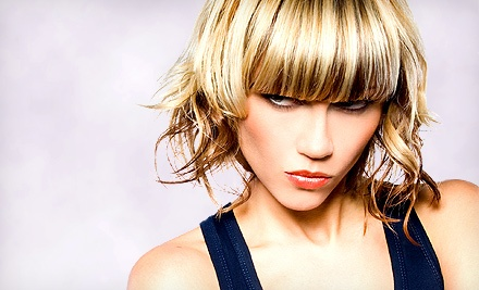 Haircut Package with Optional Full Color or Partial or Full Highlights from Cortnie Elzey at The Fringe (Up to 55% Off)