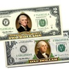 Colorized Two-Sided Genuine U.S. $1 or $2 Bills