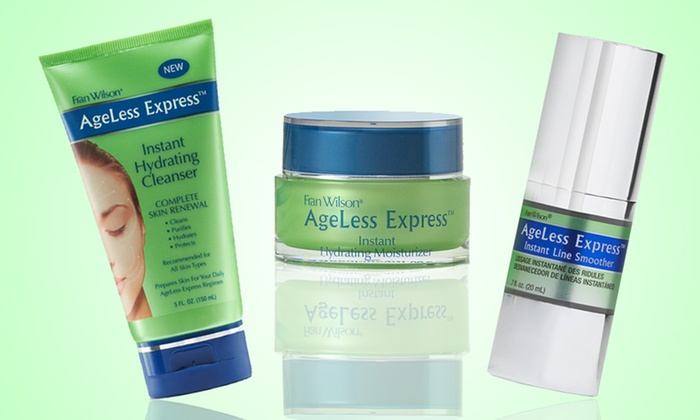 Fran Wilson AgeLess Express Skincare: Fran Wilson AgeLess Express Cleanser, Hydrating Moisturizer, or Instant Line Smoother