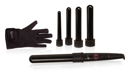 groupon daily deal - Bellezza Pro Beauty 4-in-1 Curling Iron Set
