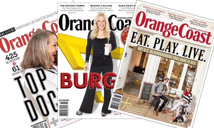 "Orange Coast: $6 for a One-Year PrintSubscription to ""Orange Coast"" ($12 Value)"