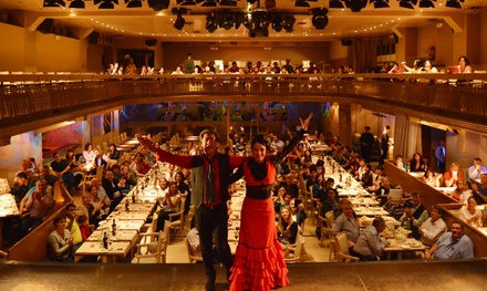 Entrada al espectáculo flamenco para dos con bebida, menú especial o menú de tapas desde 38 € en Palacio del Flamenco