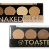 W7 Naked and Toasted Eyeshadow Palettes with Two Brushes (10-Piece)