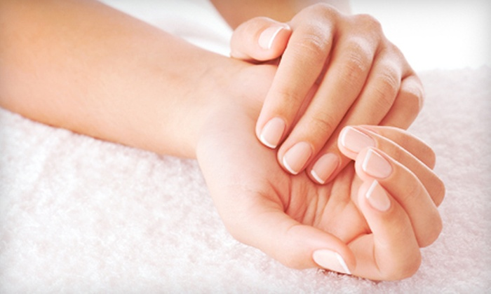 KandiKoated Nail Spa - Parke West: One or Two Gel Manicures with Regular Pedicures at KandiKoated Nail Spa (Up to 60% Off)