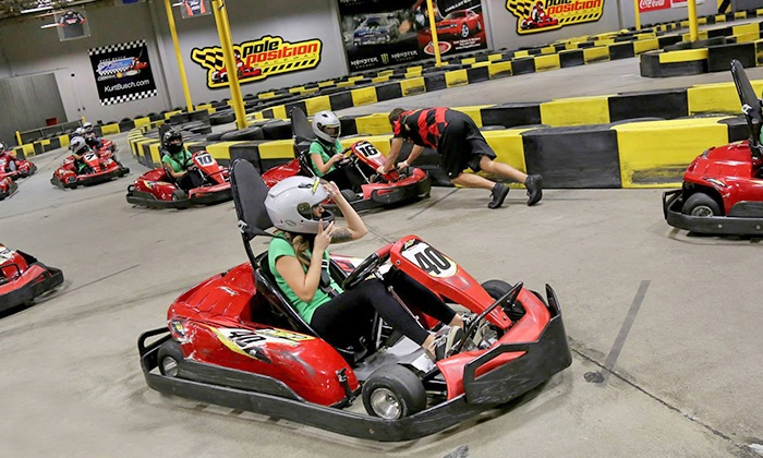 Go Karts Races Or Bachelor Party Package At Pole Position Raceway Up To 19 Off Five Options Available