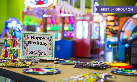 C$110 for an Indoor Unlimited Party for Up to Eight at Shakers Fun Centre (C$220 Value)