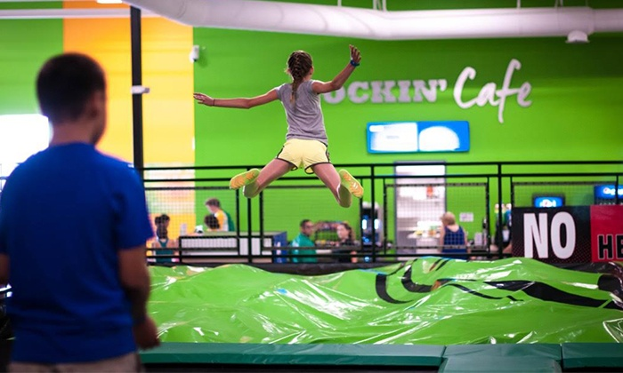 Rockin' Jump (Elk Grove) - Rockin Jump (Elk Grove): One Hour of Open Jumping for Two, Four, or Six at Rockin' Jump (Up to 50% Off)