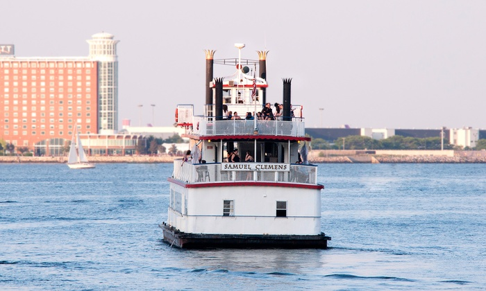 Massachusetts Bay Lines, Inc. - Downtown: $28 for a 90-Minute Sunset Cruise for Two from Massachusetts Bay Lines ($48.40 Value)