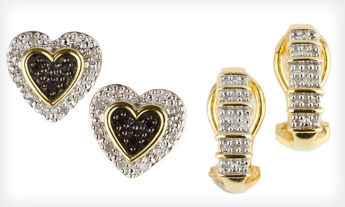 Diamond Earrings: $29 for 1/10 Ct. Diamond Stud or Hoop Earrings ($179.99 List Price). Free Shipping and Free Returns.