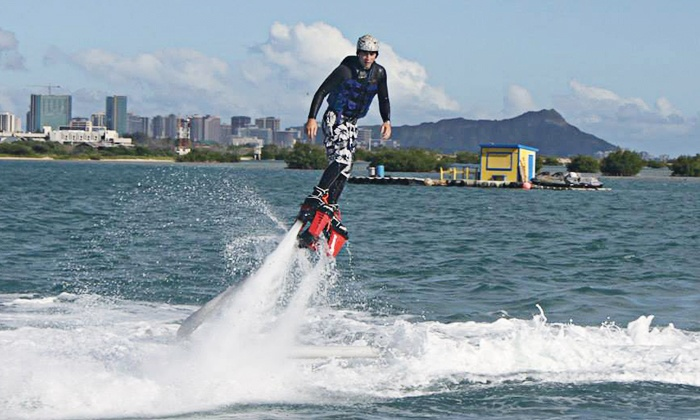 Fly Hi Oahu - Kalihi - Palama: 30-Minute Flyboard Session for One or Two People from Fly Hi Oahu (Up to 51% Off)