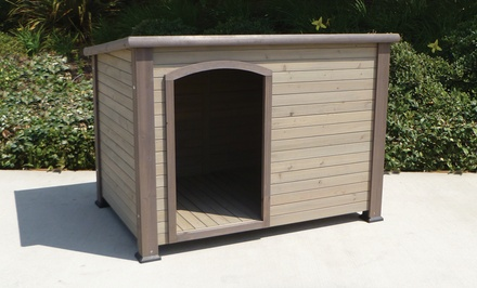 Extreme Log Cabin Doghouses from $109.99 to $139.99