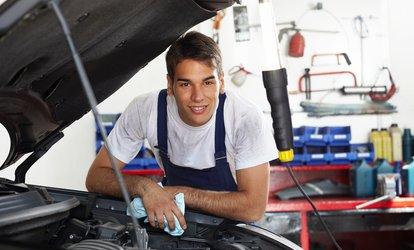 image for Oil Change or Premium Brake Pad & Rotor Replacement at Everything Auto Service & Repair (Up to 43% Off)