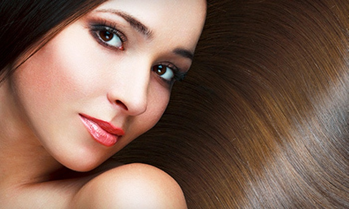 Cutz Meridian - Wallingford: Haircut and Style with Moroccanoil Treatment or Partial or Full Highlights at Cutz Meridian (Up to 62% Off)