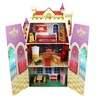 Fancy Castle Wooden Dollhouse with Furniture Set