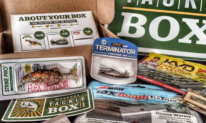 Mystery tackle box in groupon for Fishing box subscription