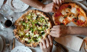 Paolo's Pizzeria: Pizza With a Glass of Prosecco or Wine for Two or Four at Paolo's Pizzeria (48% Off)