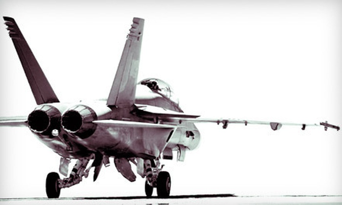 Air Combat Zone - Mississauga: Standard- or Double-Duration Mission in F-18 Fighter Plane Simulators for Two at Air Combat Zone in Mississauga (51% Off)