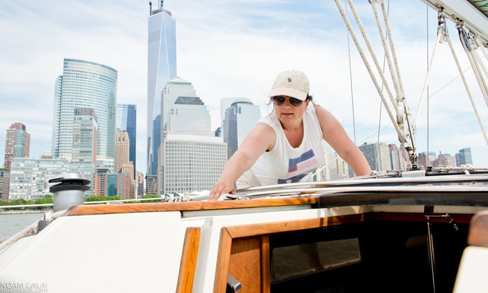 Sailors NYC - Pier 25, until July 1: One or Three Hands-On Sailing Lessons, or Basic Membership at Sailors NYC (Up to 49% Off)