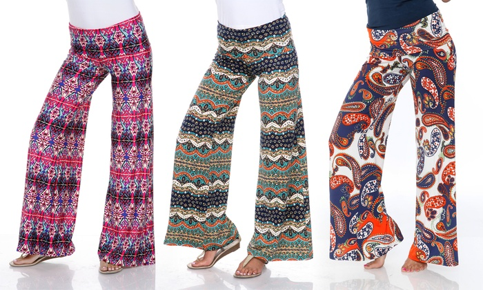 52% Off on Women's Printed Palazzo Pants | Groupon Goods