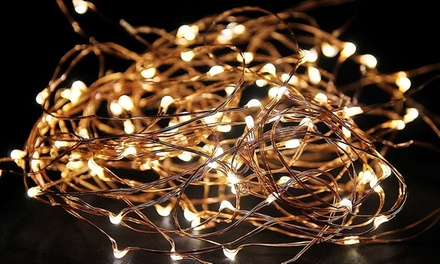 Two Sets of LED Copper Wire String Lights for AED 39 (70% Off)