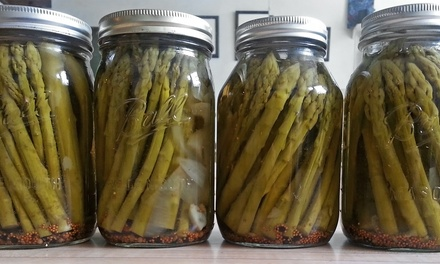 Pickle Asparagus with the Manager of Edible Alchemy Co-Op