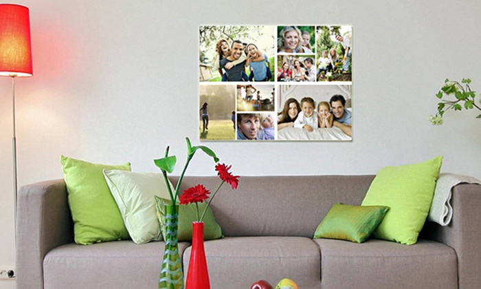 Dreambooks UK: Personalised Photo Collage Canvas in Choice of Size from £9.99 (Up to 82% Off)